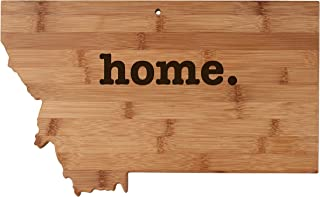 Montana State Shaped Bamboo Wood Cutting Board Engraved home. Personalized For New Family Home Housewarming Wedding Moving Gift