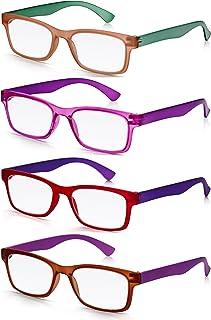 eded4358c3 Read Optics 4 Pack-Gafas de Lectura Vista Presbicia Hombre/Mujer - Varios  Colores