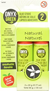 Onyx and Green 4701 Glue Sticks, Non-Toxic, 2 Piece