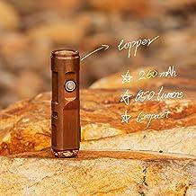 RovyVon A9 koperen mini-led-zaklamp, 450 lumen, Nichia 219C USB-oplaadbare zaklamp, EDC-tandwielen voor geschenk, bedankj...