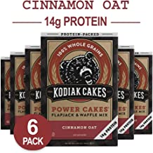 Kodiak Cakes Protein Pancake Power Cakes, Flapjack and Waffle Mix, Cinnamon Oat, 20 Ounce (Pack of 6)