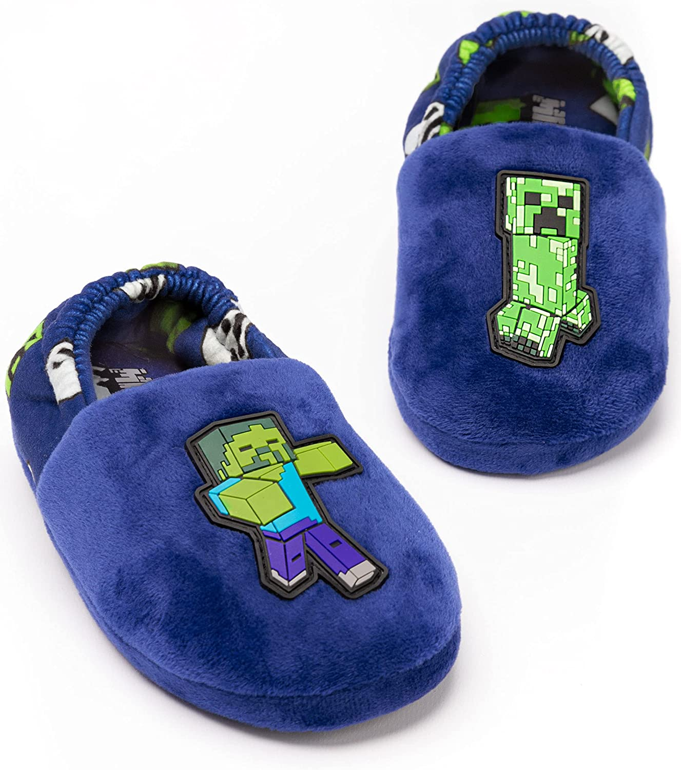 Minecraft Mail order Slippers Boys Popular popular Kids Blue Zombie House Shoes Creeper vs