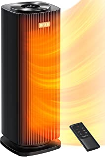 Dreo Space Heaters for Indoor Use, Quiet&Fast Portable Heater with Tip-Over and Overheat Protection, Remote, Oscillating,1...