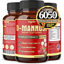 D-Mannose Capsules 6050 mg with Cranberry - Flush Impurities - Natural Urinary Tract Health - 3 Months Supply.*