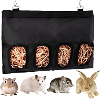 LUTER 45 x 28 x 3,57 cala świnka morska siano torba na podajnik królik siano torba wisząca torba na podajnik, idealna dla ...