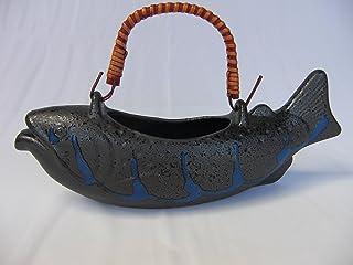 川魚のお酒をたしなむ 黒 清流 岩魚 骨酒器 小 550cc