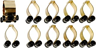 10 Count Pool Cue Billiard Stick Rack Clips Choose Brass or Silver Color