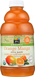 365 Everyday Value, Organic 100% Juice, Flavored Juice Blend from Concentrate, Orange Mango, 32 fl o