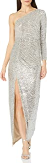 Adrianna Papell Women's Sequin Draped Gown