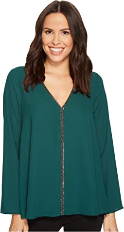 Karen Kane - Sparkle Flare Sleeve Top