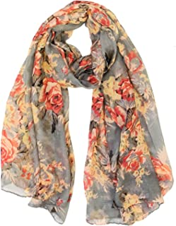 Wrapables Lightweight Floral Spring Long Scarf Wrap Shawl