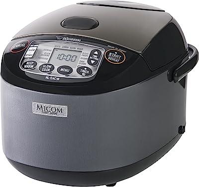 Zojirushi NL-GAC18 BM Umami Micom Rice Cooker & Warmer, 10-Cup, Metallic Black, Made in Japan
