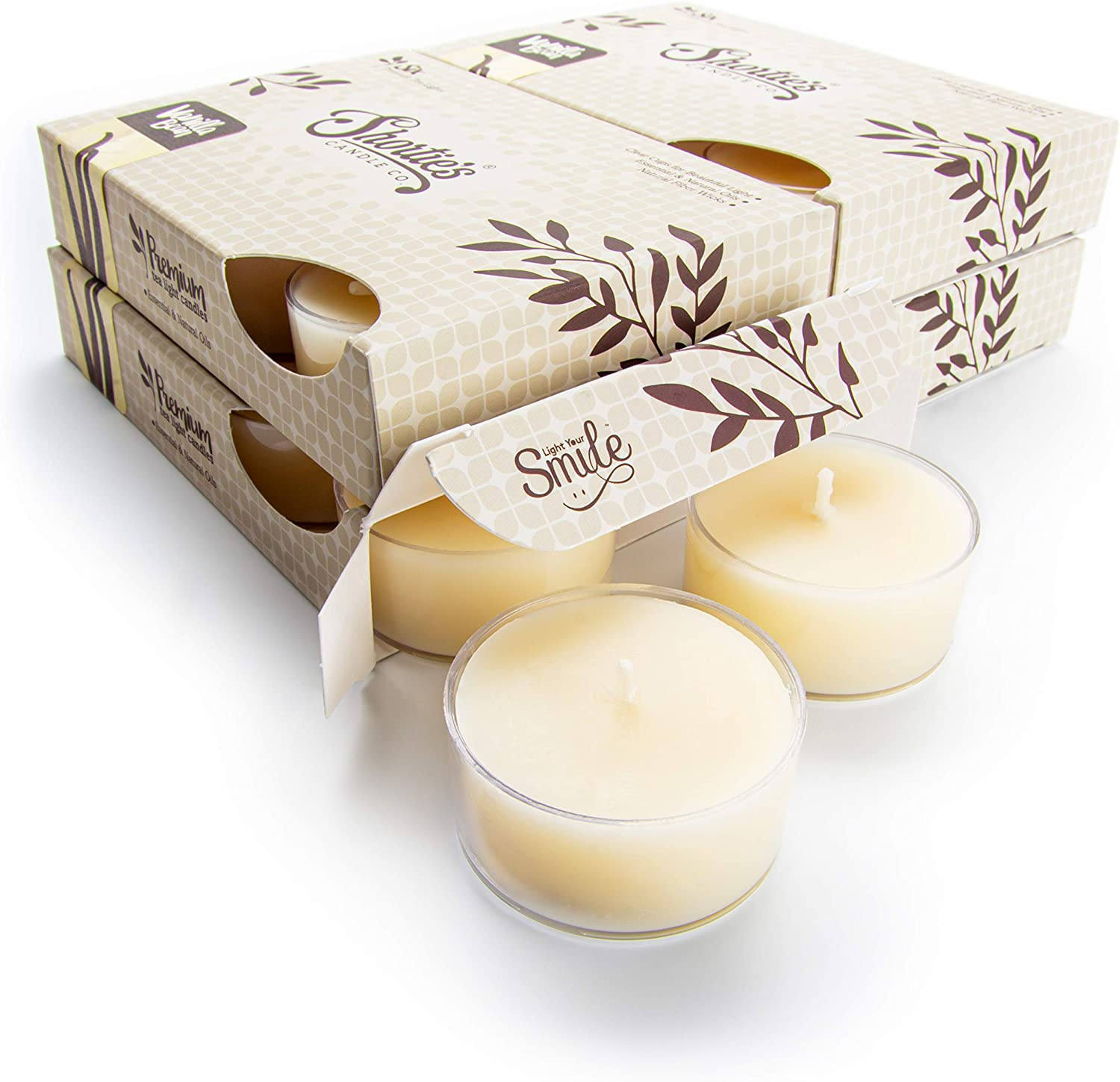 Vanilla Bean Tealight Sale special price Candles Bulk Beige 24 Pack Ranking TOP15 Scented Highly