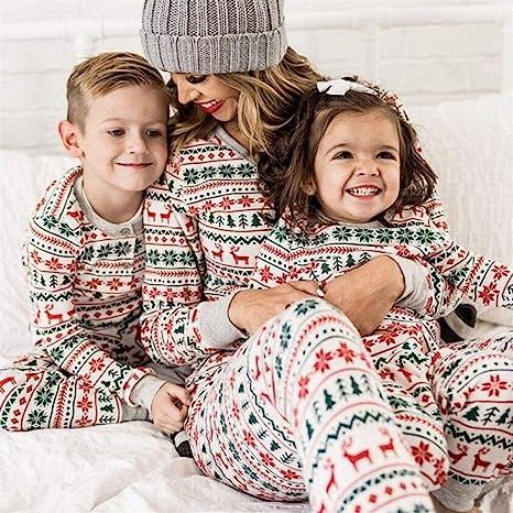 Auagvien Pijamas De Mujer Navidad, Pijama Parejas, Pijamas De ...