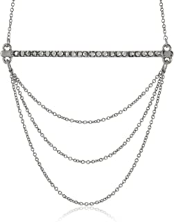 Rebecca Minkoff Bar and Chain Pendant Necklace