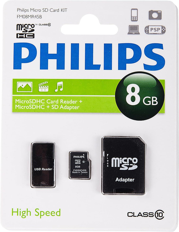 Philips Micro Sd Karte Msdhc 32 Gb Class 10 3 In 1 Computer Zubehör