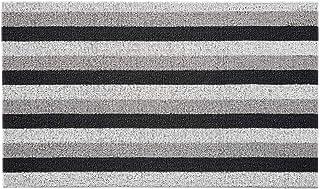 Gorilla Grip Premium Tufted Bristles Doormat, Boot Scraper, Easy Clean, Soft Durable Absorbent Striped Front Door Mats, He...