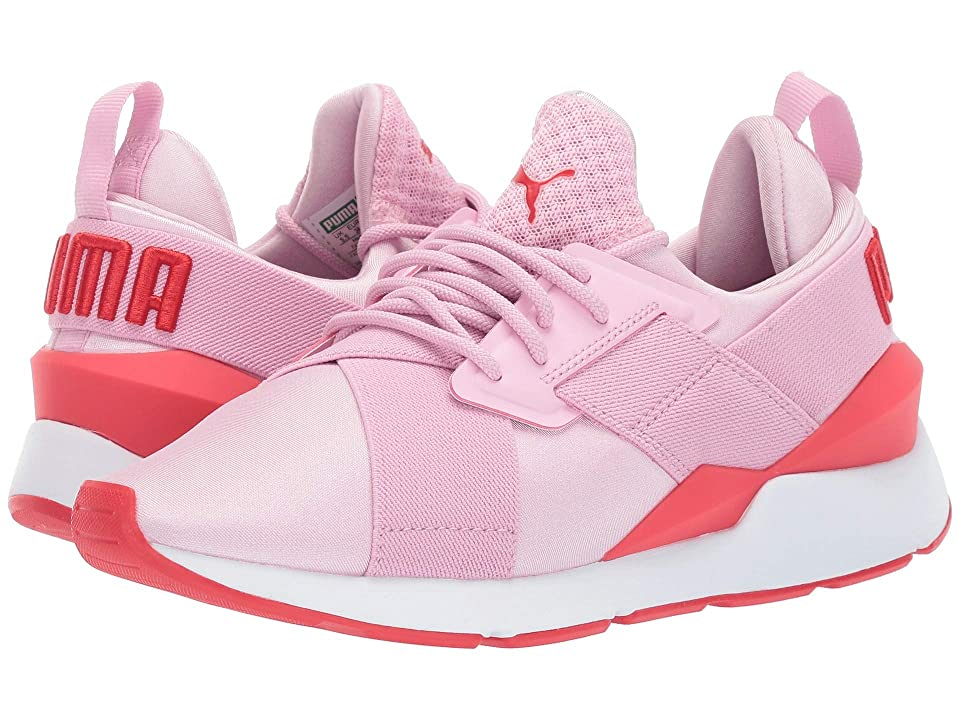 Puma Kids Muse (Big Kid) (Pale Pink/Hibiscus) Girl