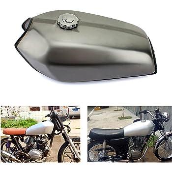Pigloo Moto 10l 2.6 Gallone Cafe Racer Carburante Gas Serbatoio Gloss Black