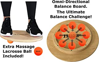 Branded Boards Omni-Directional Balance Board - The Ultimate Workout Balance Board Challenge. Awesome Wooden Balance Board and Physical Therapy Balance Board.