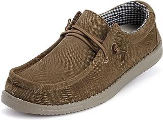 WHITIN Men's Laid-Back Slip On Loafer   Wide Moc-Toe   Ultra-Light Softsole