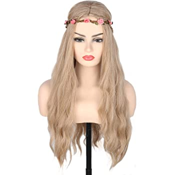 Topcosplay Women's Princess Bride Wig Blonde Long Curly Halloween Costume Wigs