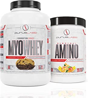 Purus Labs MyoWhey 5lb Chocolate Cookie Crunch Protein & Everyday Amino Cucumber Lime Bundle