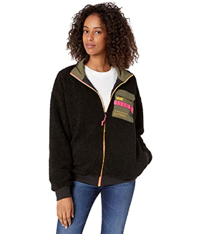 Vans 66 Supply Zip Sherpa Jacket (Black) Women