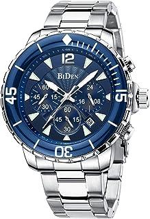 Reloj para Hombre Relojes de Pulsera Impermeables Diseño de cronógrafo Luminoso Relojes clásicos de Acero Inoxidable Dial ...