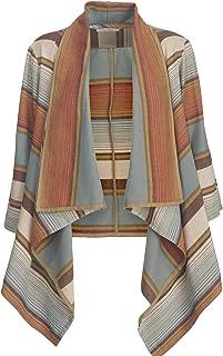 Women's Pemberton Flannel Wrap Cardigan, Autumn Leaf Stripe (Brown), Size XL/