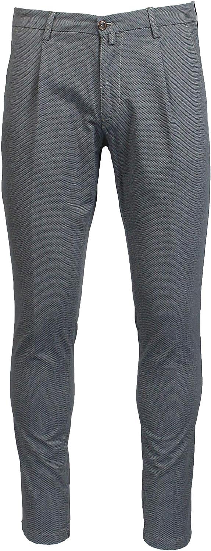 BRIGLIA 1949 Men's BG42397423 Grey Cotton Pants