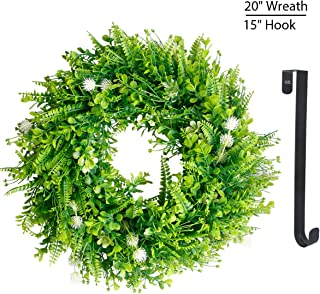 Green Wreath for Fall Front Door Greenery Wreaths 20