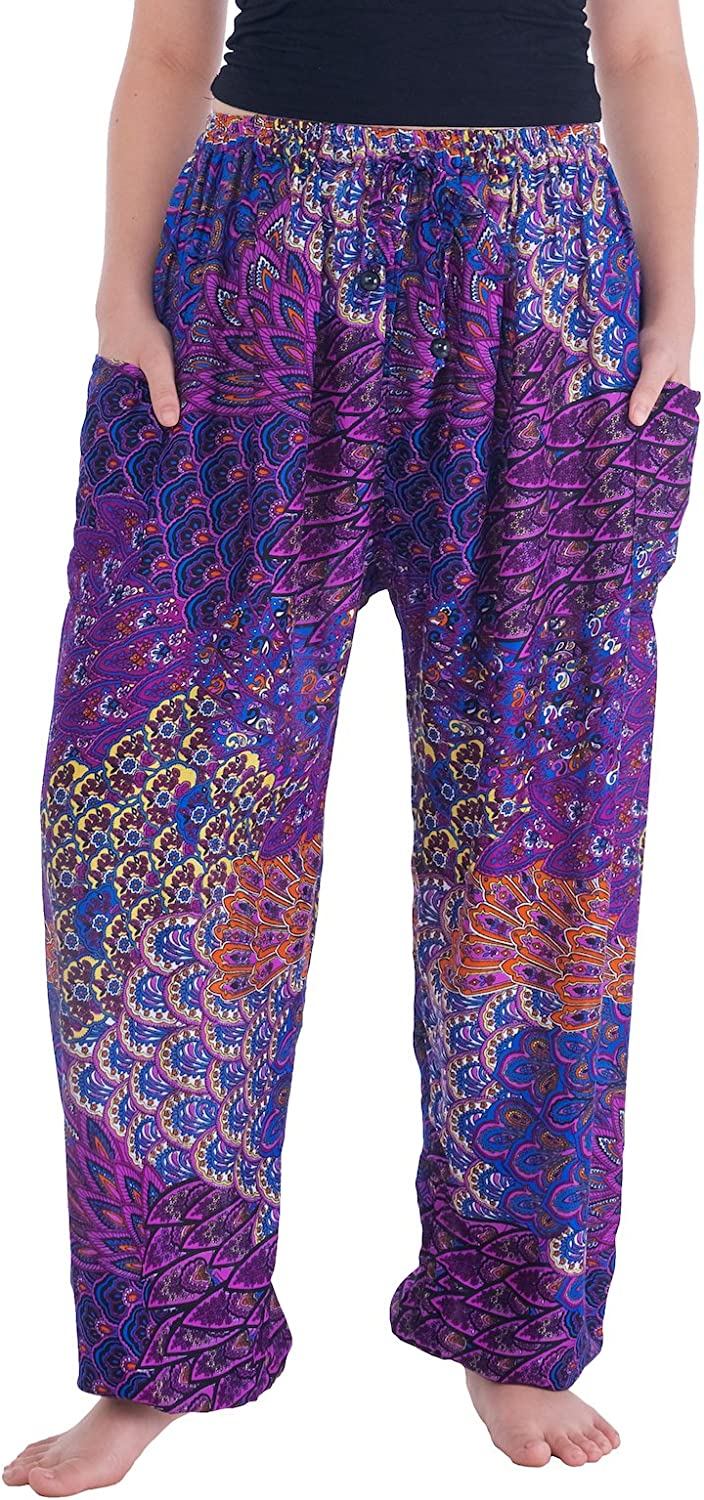 Lannaclothesdesign Harem NEW before selling Pants Hippie Trousers Cheap super special price Womens Boho Yoga