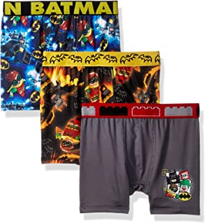 LEGO Boys' 3-Pack Athletic Boxer Brief Underwear