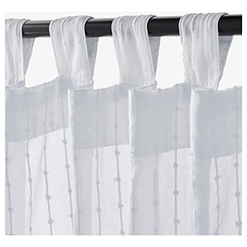 White Tab Top Curtains Amazon Com