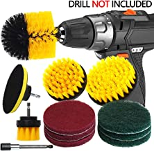 QUIENKITCH 12Piece Drill Brush Attachment Set, Power Drill Scrubber Brush with Scrub Pads & Extend Long Attachment All Purpose Cleaning Kit for Grout, Tiles, Sinks, Bathtub, Bathroom, Auto & Kitchen