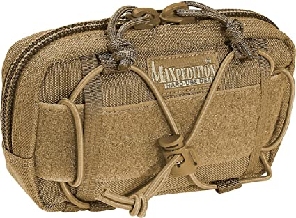 Maxpedition JANUS Extension Pocket Khaki Two faced pocket one side features loo