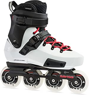 Rollerblade Twister Edge X Unisex Adult Fitness Inline Skate, Black and White,Premium Inline Skates