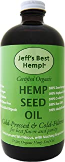 Jeff's Best Hemp! RAW Organic Cold Pressed and Cold Filtered Hemp Seed Oil 6 Pack