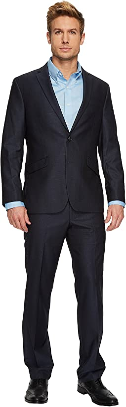 Kenneth Cole Reaction Shiny Check Suit