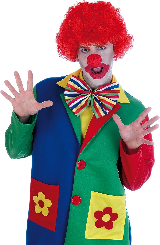 Deluxe Clown Fancy Dress Costume Größes S M L XL Includes FREE WIG (Men  Large)