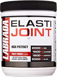 Labrada Elastijoint - Joint Support Powder, All In One Drink Mix with Glucosamine Chondroitin, MSM and Collagen, Fruit Pun...