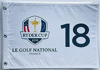 2018 Ryder Cup Flag le golf national golf France silkscreen logo new