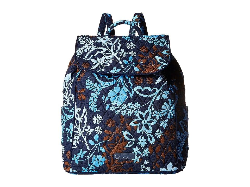 Vera Bradley Drawstring Backpack (Java Floral) Backpack Bags