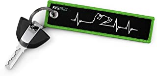 KEYTAILS Keychains, Premium Quality Key Tag for Snowmobile, Sled [Snowmobile - Heartbeat]
