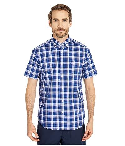 Nautica Casual Plaid Shirt (Blue) Men