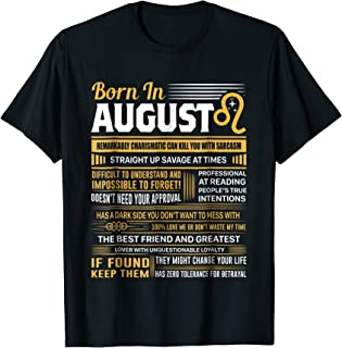 Best August Birthday Gifts - Born In August Leo T-Shirt Review