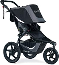 BOB Gear Revolution Flex 3.0 Jogging Stroller | Smooth Ride Suspension + Easy Fold + Adjustable Handlebar, Graphite Black [New Logo]