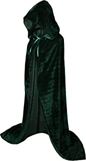Hooded Cloak Long Velvet Cape for Christmas Halloween Cosplay Costumes 59inch