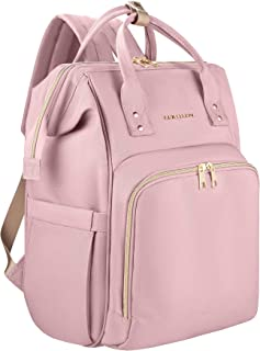 Amilliardi Large Capacity Fashion Diaper Bag Backpack – 4 Insulated Bottle Holder Up to 11 Oz Baby Bottles - Stroller Straps– Multi-Function - 10 Divisions - Nappy Bag Organizer(Blush/Light Pink)